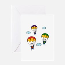 Parachute Kids Greeting Cards