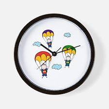 Parachute Kids Wall Clock