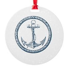 Anchor, Nautical Monogram Ornament