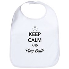 Keep calm and play ball Bib
