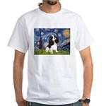 Starry Night Tri Cavalier White T-Shirt