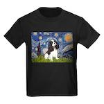 Starry Night Tri Cavalier Kids Dark T-Shirt
