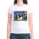 Starry Night Tri Cavalier Jr. Ringer T-Shirt
