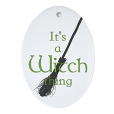 Witch Thing Ornament (Oval)
