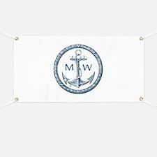 Anchor, Nautical Monogram Banner