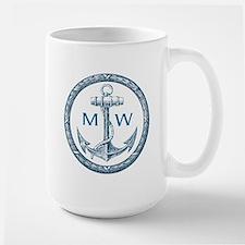 Anchor, Nautical Monogram Mugs