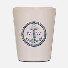 Anchor, Nautical Monogram Shot Glass