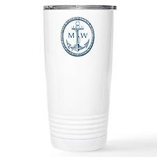 Anchor, Nautical Monogram Travel Mug