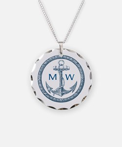 Anchor, Nautical Monogram Necklace