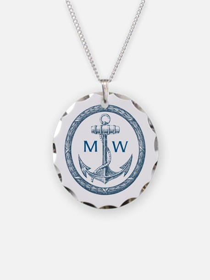 Anchor, Nautical Monogram Necklace