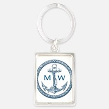 Anchor, Nautical Monogram Keychains