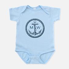 Anchor, Nautical Monogram Body Suit