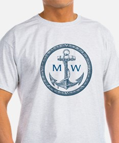 Anchor, Nautical Monogram T-Shirt