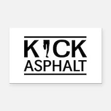 Kick asphalt Rectangle Car Magnet