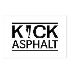 Kick asphalt Postcards (Package of 8)