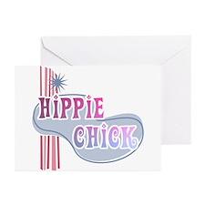 Retro Hippie Chick Greeting Cards (Pk of 10)