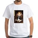 The Queen's Tri Cavalier White T-Shirt