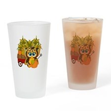 Fall Fairy Owl - Drinking Glass
