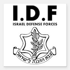 IDF Israel Defense Forces - ENG - Black Square Car