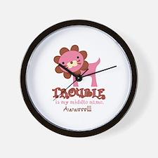 Cute Trouble Lion Wall Clock