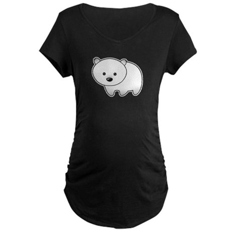 Cute Polar Bear Maternity Dark T-Shirt