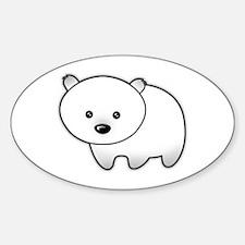 Cute Polar Bear Oval Decal