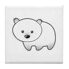 Cute Polar Bear Tile Coaster