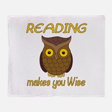 Reading Wise Throw Blanket