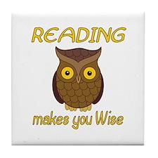 Reading Wise Tile Coaster
