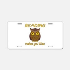 Reading Wise Aluminum License Plate