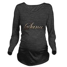 Gold Sana Long Sleeve Maternity T-Shirt