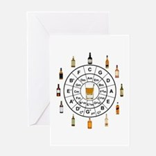 Circle of Whiskey 5th Greeting Cards