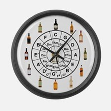 Circle of Whiskey 5th Large Wall Clock