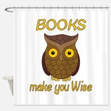 Book Wise Shower Curtain