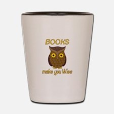 Book Wise Shot Glass