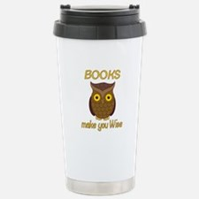 Book Wise Stainless Steel Travel Mug
