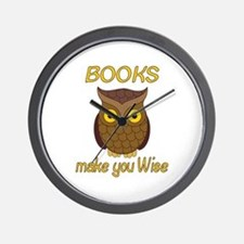 Book Wise Wall Clock