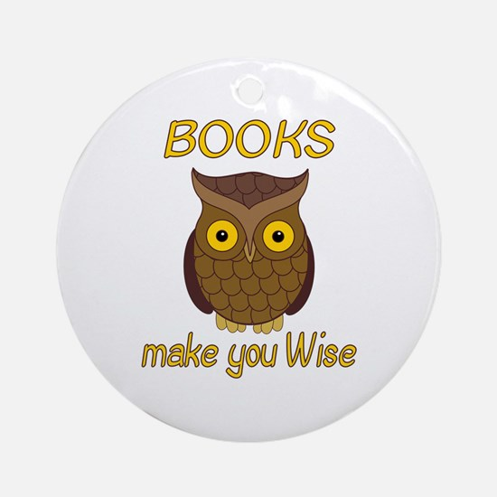 Book Wise Ornament (Round)
