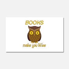 Book Wise Car Magnet 20 x 12