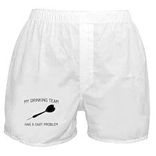 Drinking team dark problem Boxer Shorts