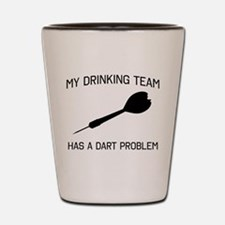 Drinking team dark problem Shot Glass