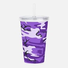 Purple Camouflage Acrylic Double-wall Tumbler