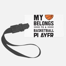 My heart basketball player Luggage Tag