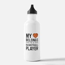My heart basketball player Water Bottle
