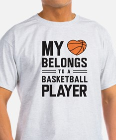 My heart basketball player T-Shirt