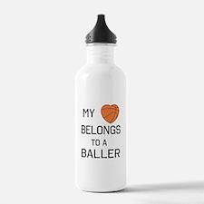 Heart belongs to a baller Water Bottle