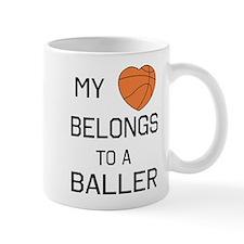 Heart belongs to a baller Mugs