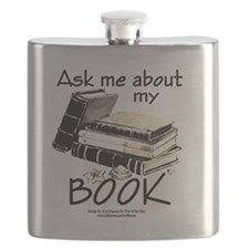 Pocket Design: Ask Me About My Book Flask