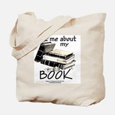 Pocket Design: Ask Me About My Book Tote Bag