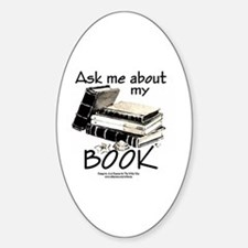 Pocket Design: Ask Me About My Book Sticker (Oval)